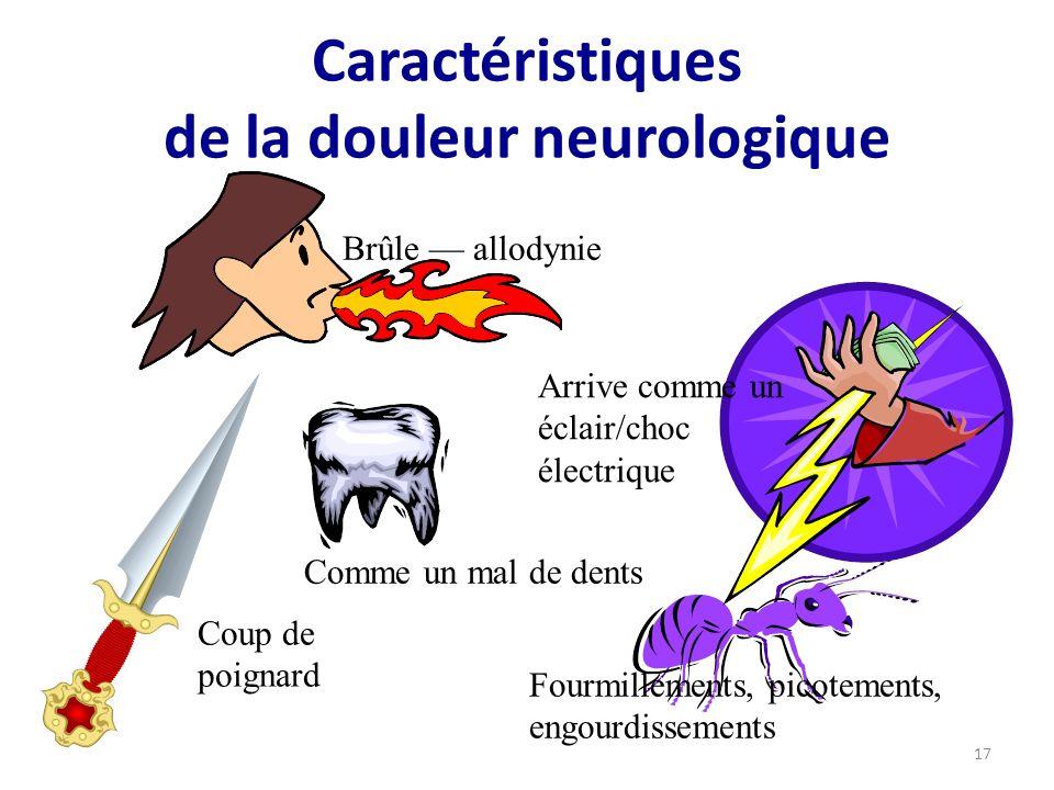 Caractéristiques de la douleur neurologique