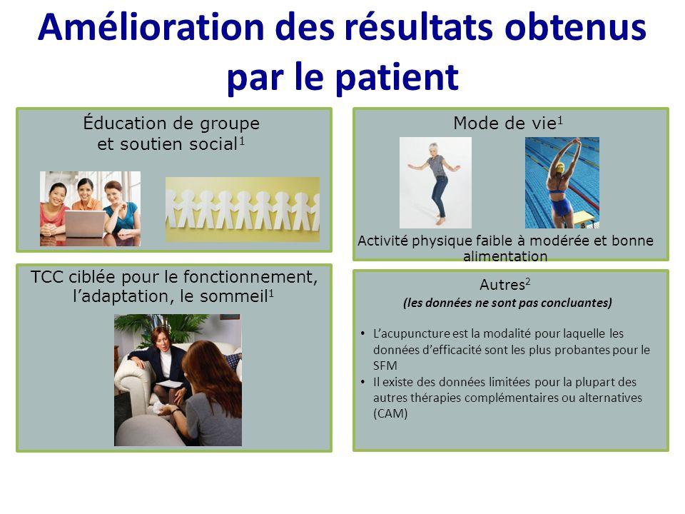 Amélioration des résultats obtenus par le patient