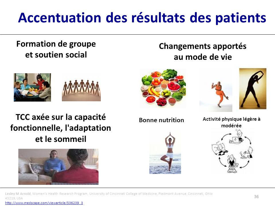 Accentuation des résultats des patients