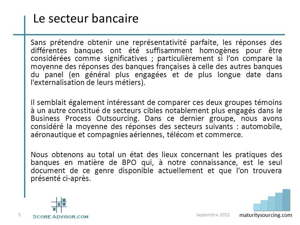 Le secteur bancaire
