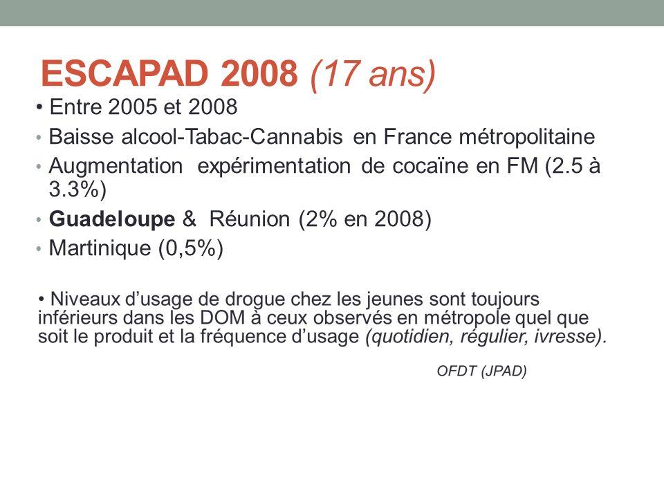 ESCAPAD 2008 (17 ans) • Entre 2005 et 2008
