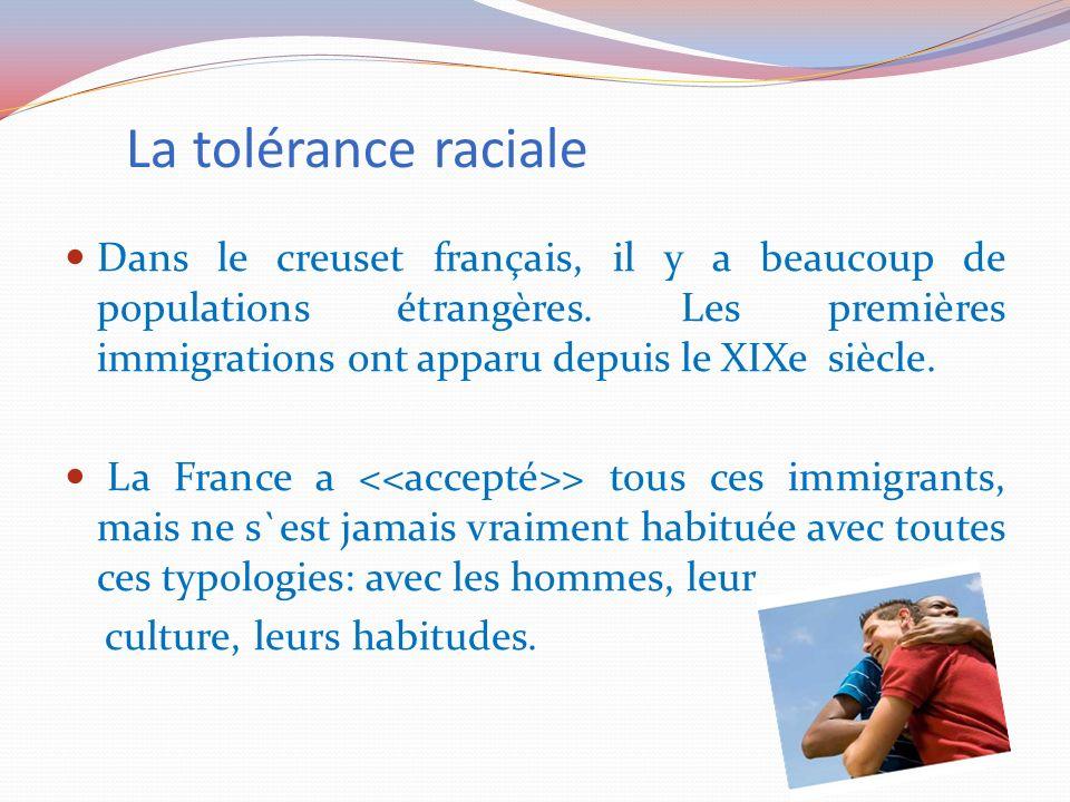 La tolérance raciale
