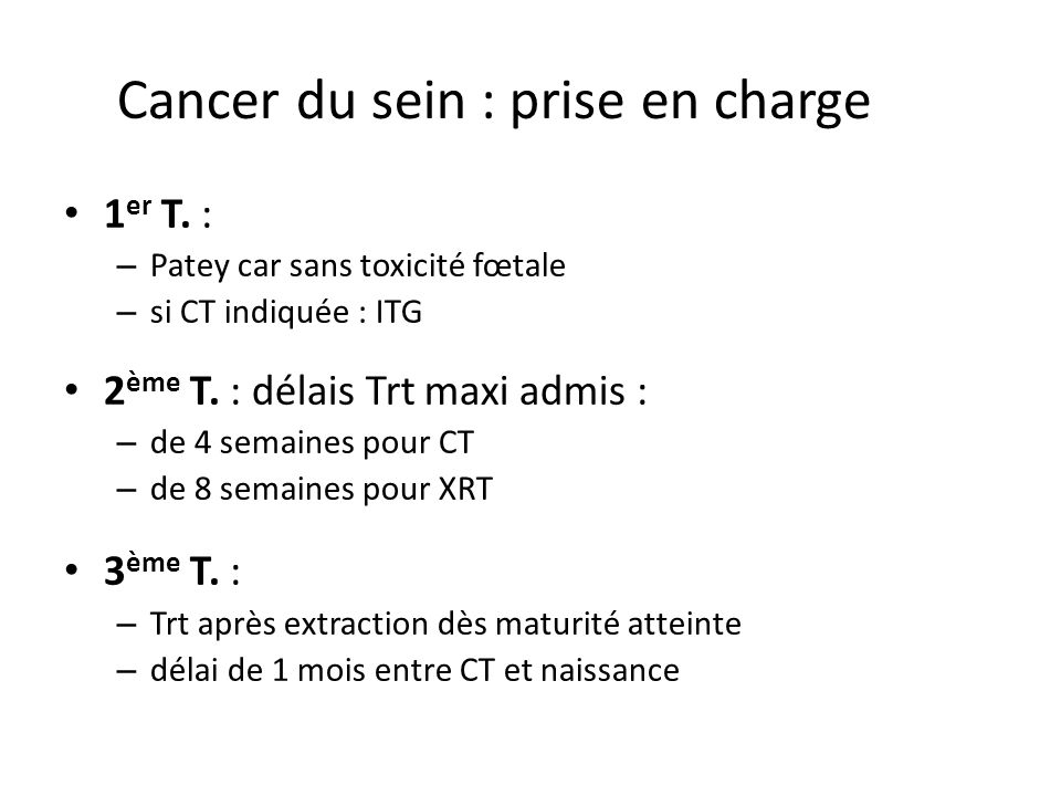 Cancer du sein : prise en charge
