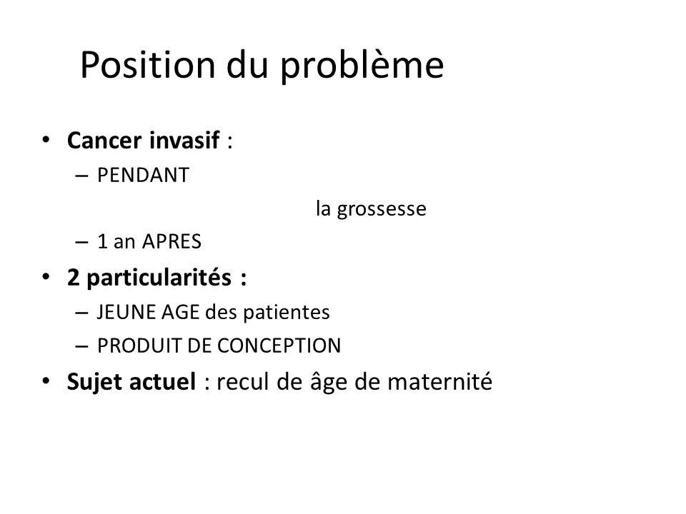 Position du problème Cancer invasif : 2 particularités :