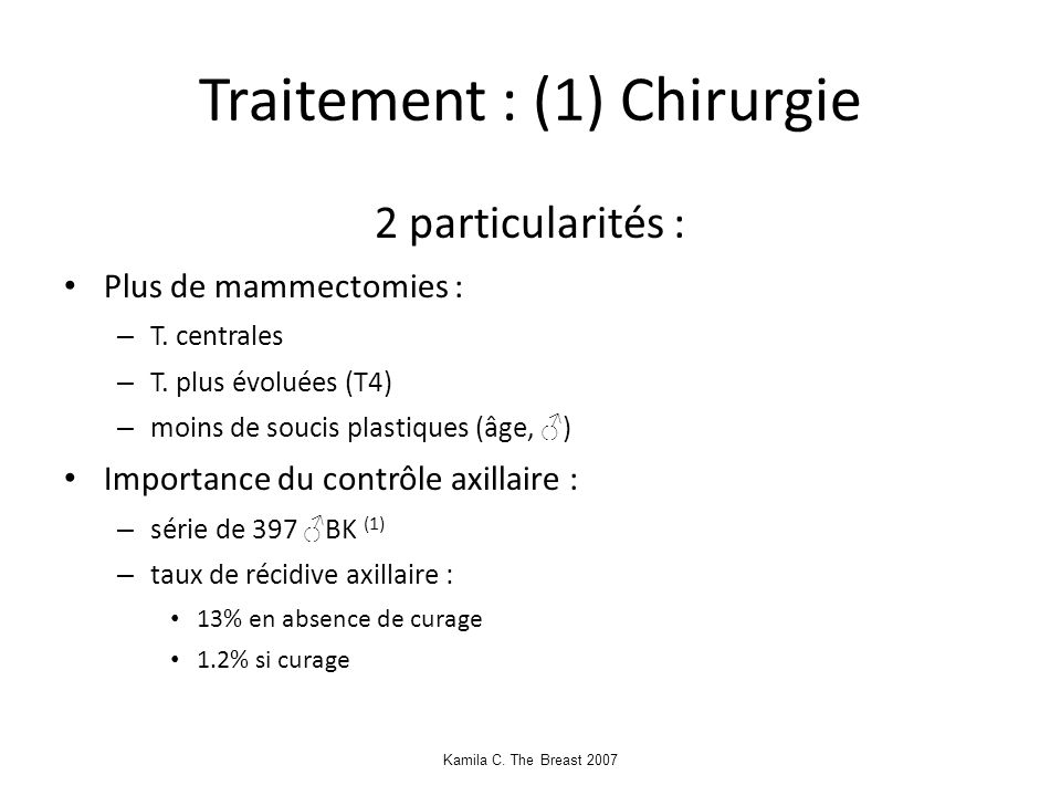Traitement : (1) Chirurgie