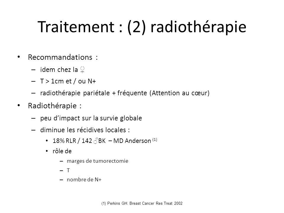 Traitement : (2) radiothérapie