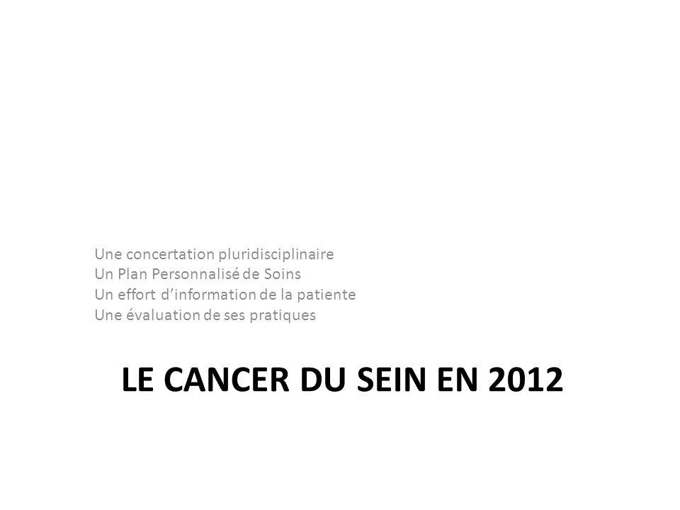 Le cancer du sein en 2012 Une concertation pluridisciplinaire