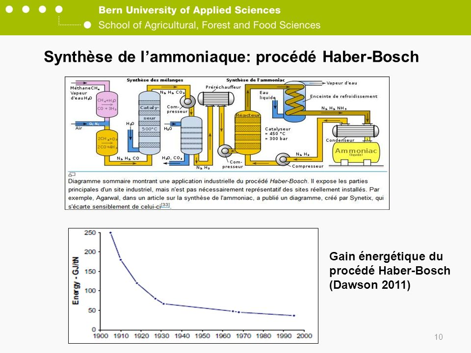 Synthèse de l'ammoniaque: procédé Haber-Bosch