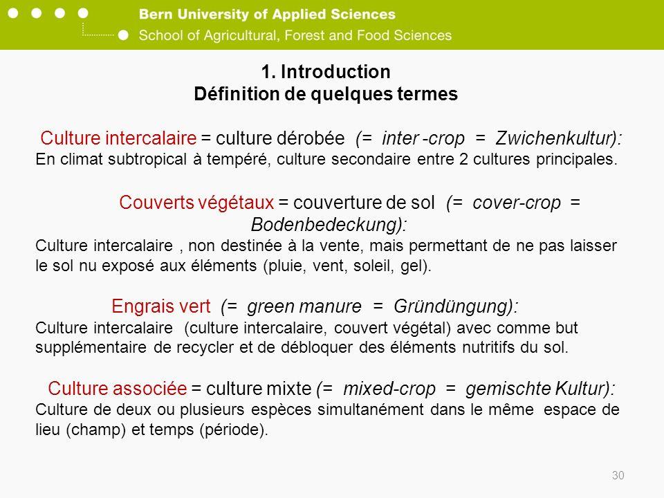 1. Introduction Définition de quelques termes