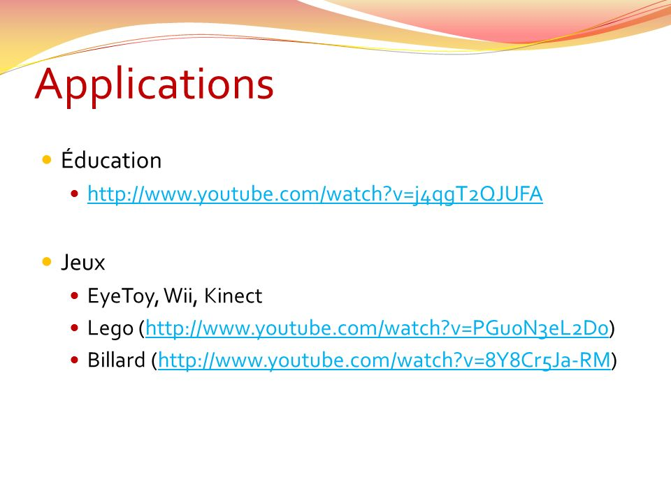 Applications Éducation Jeux http://www.youtube.com/watch v=j4qgT2QJUFA