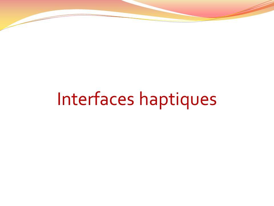 Interfaces haptiques