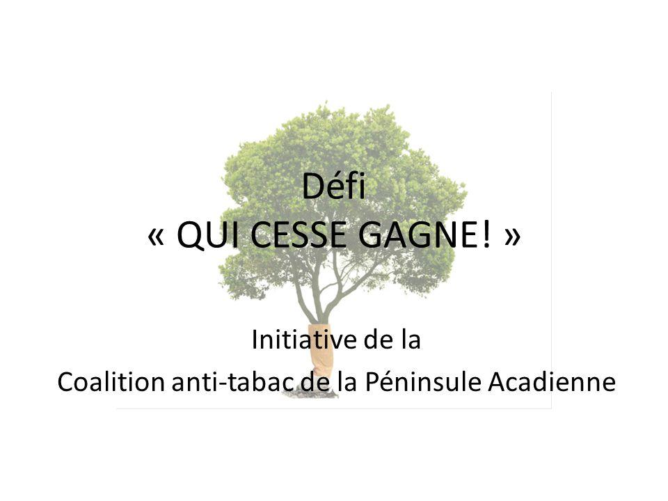 Initiative de la Coalition anti-tabac de la Péninsule Acadienne