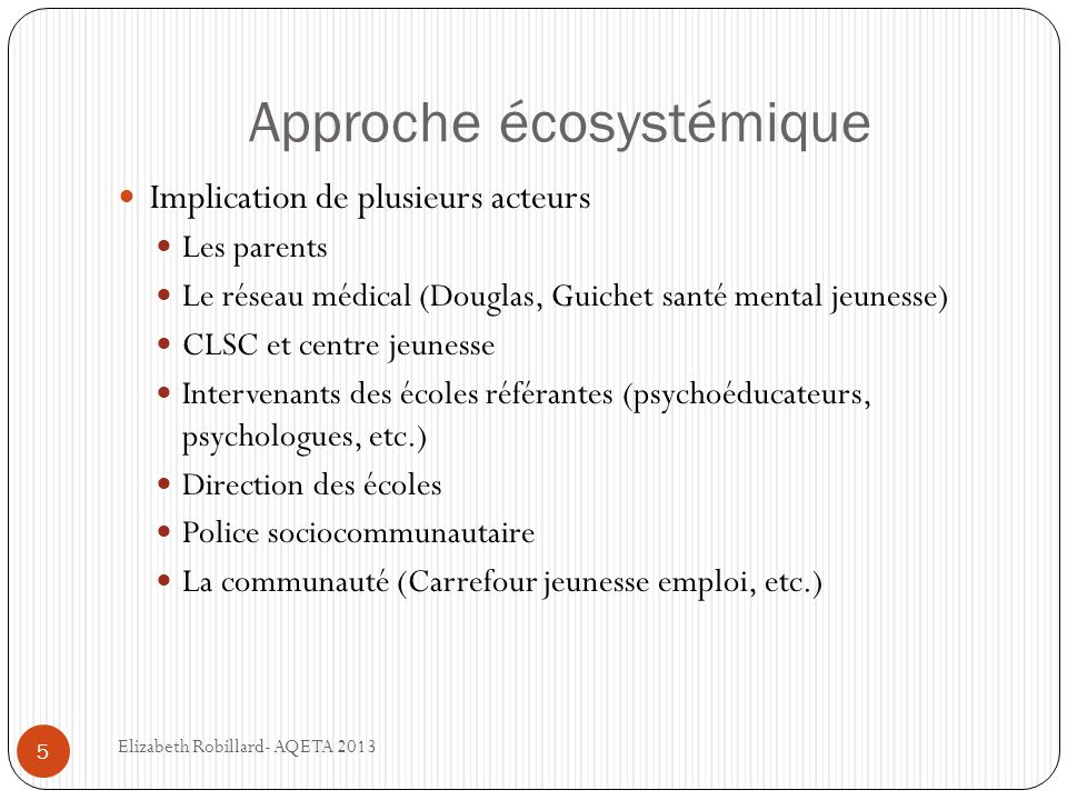 Approche écosystémique