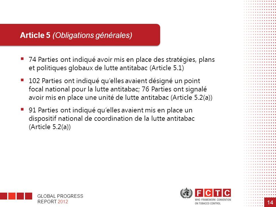Article 5 (Obligations générales)