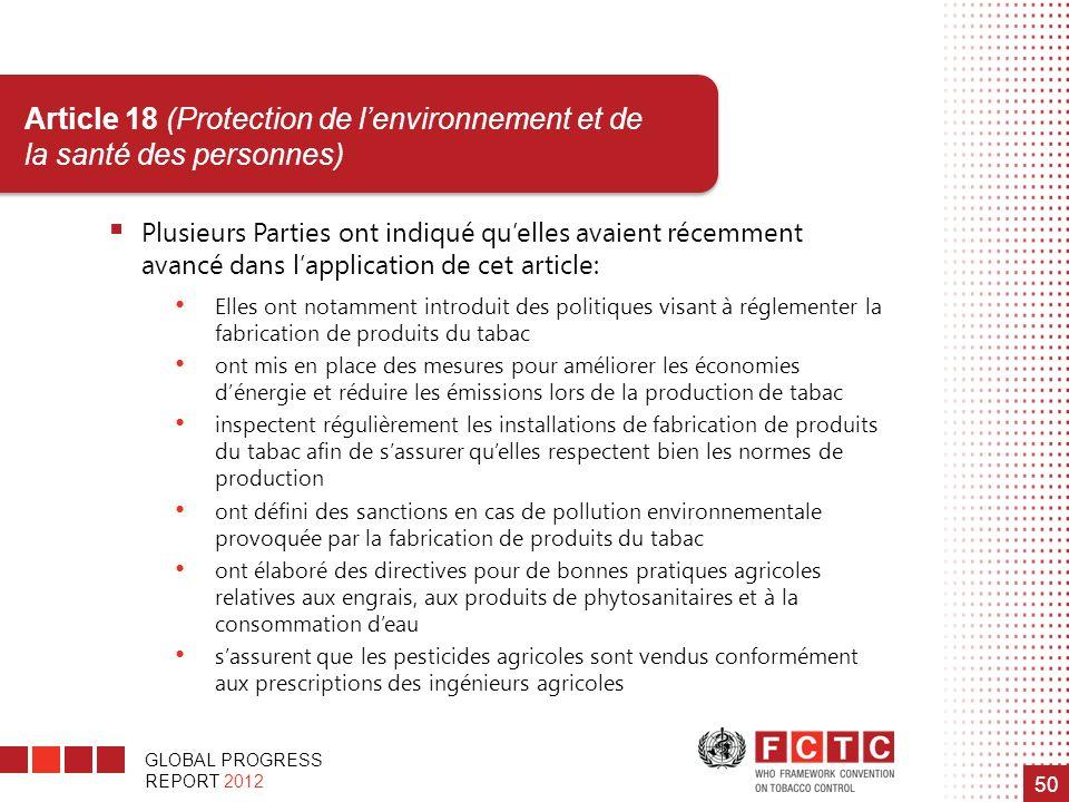 Article 18 (Protection de l'environnement et de la santé des personnes)