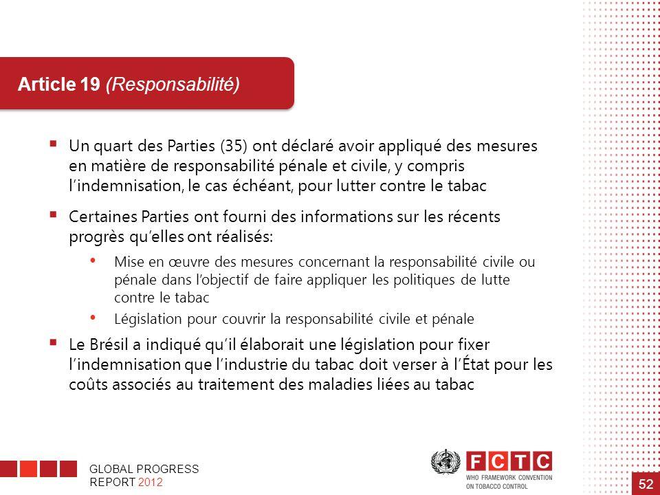 Article 19 (Responsabilité)