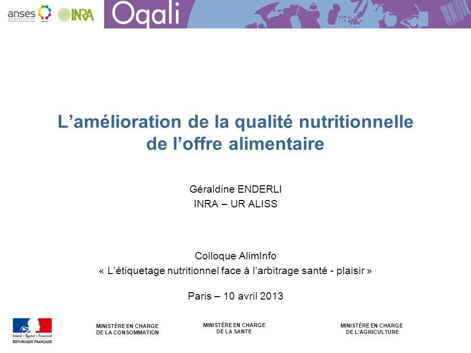 L'amélioration de la qualité nutritionnelle de l'offre alimentaire