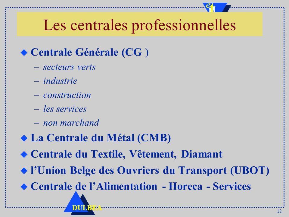 Les centrales professionnelles