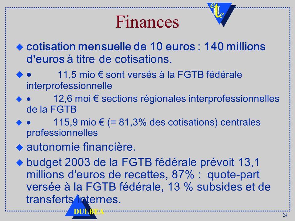 Finances cotisation mensuelle de 10 euros : 140 millions d euros à titre de cotisations.