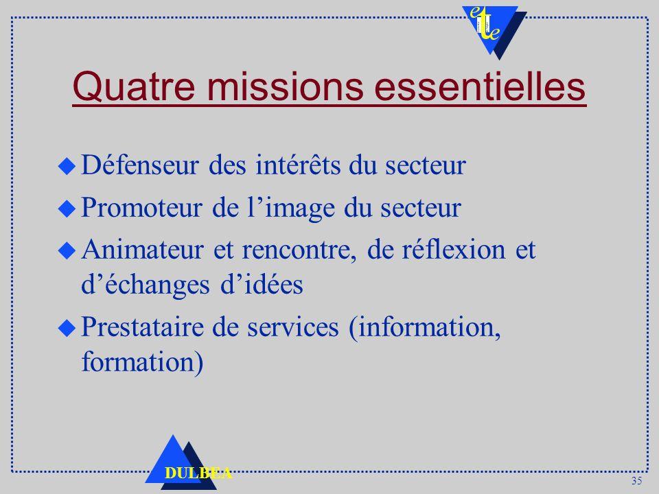 Quatre missions essentielles