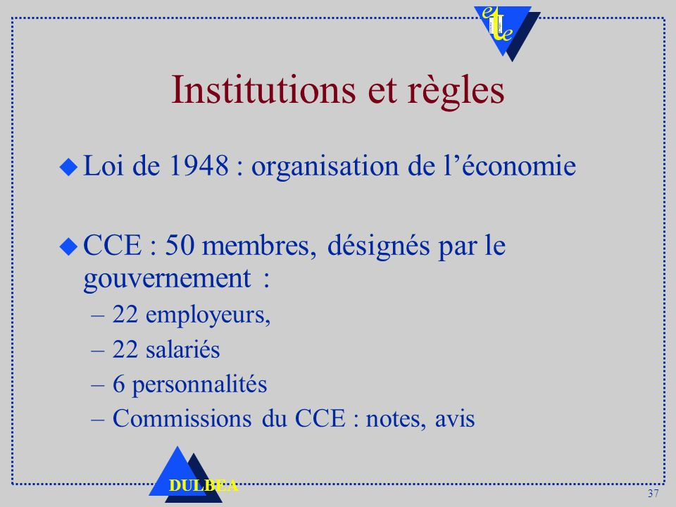 Institutions et règles