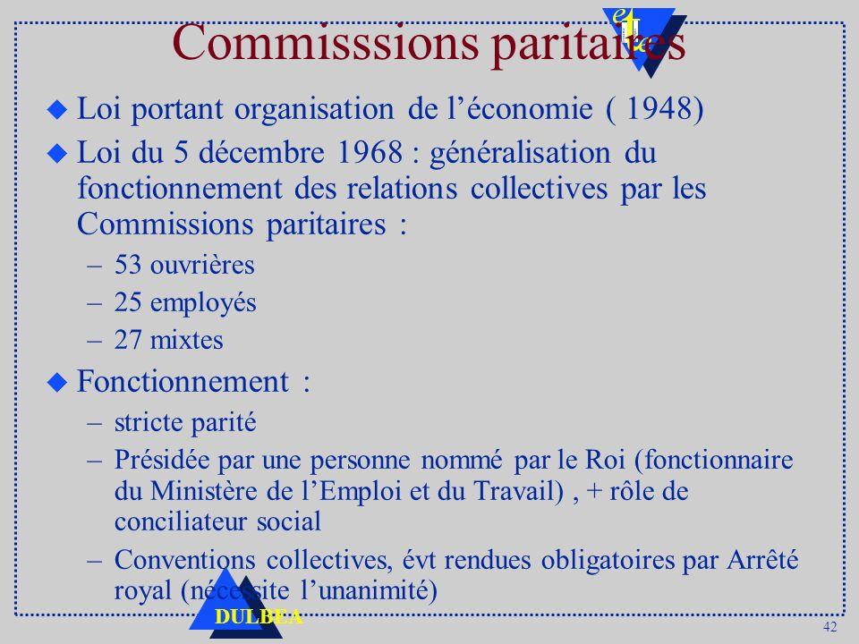 Commisssions paritaires