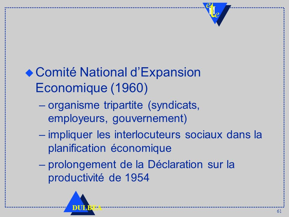 Comité National d'Expansion Economique (1960)