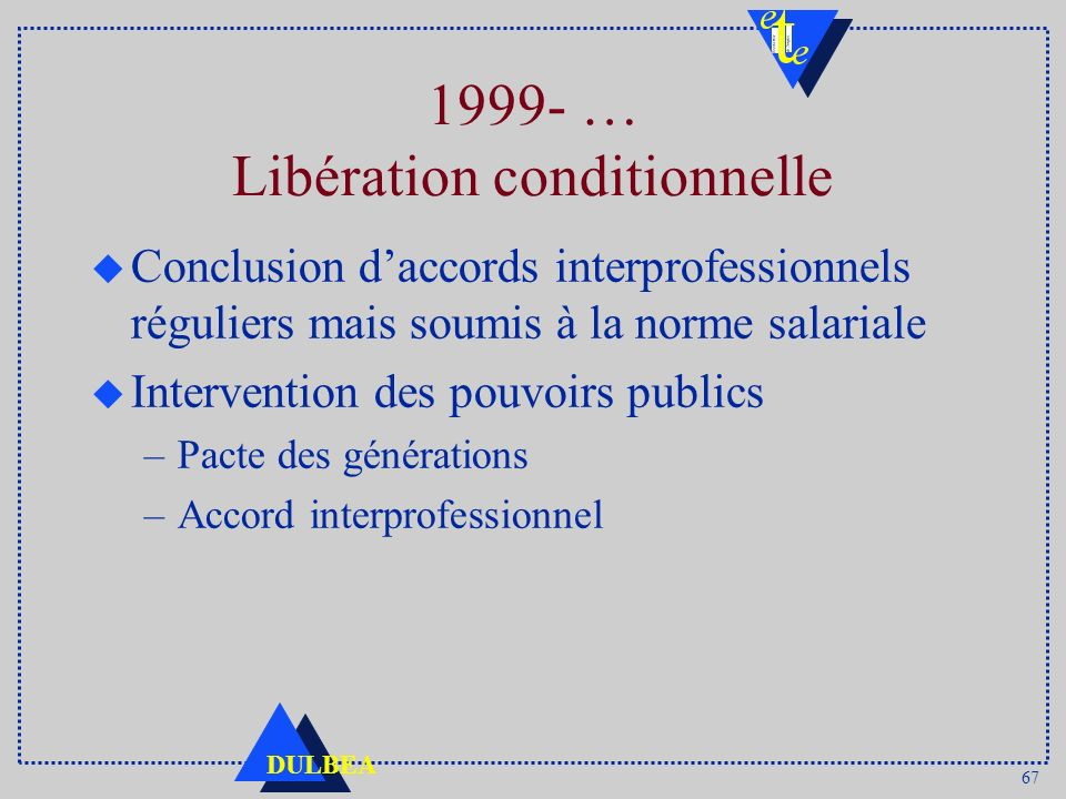 1999- … Libération conditionnelle