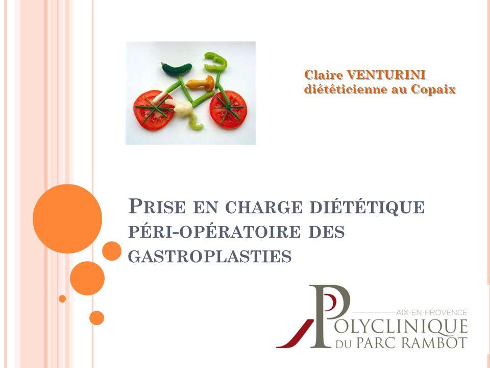 Prise en charge diététique péri-opératoire des gastroplasties