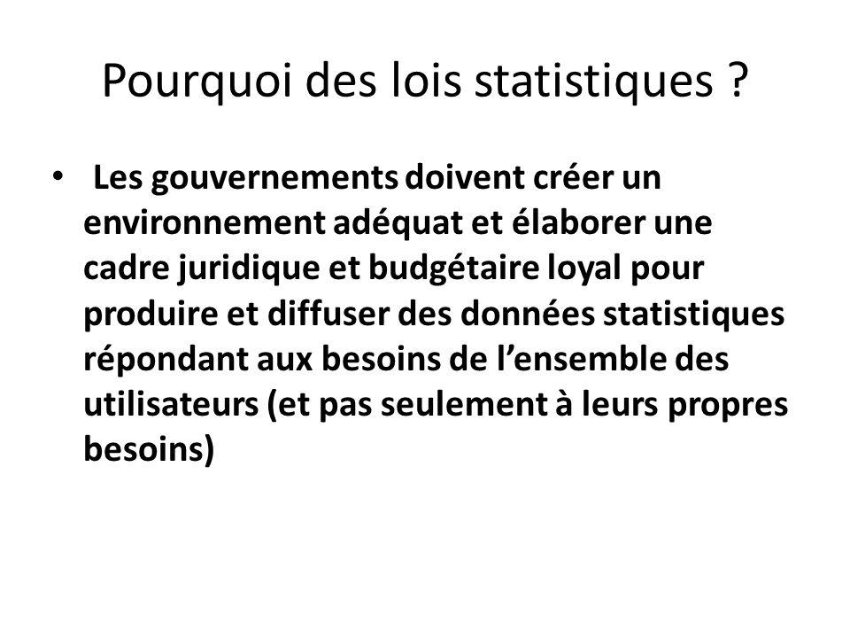 Pourquoi des lois statistiques