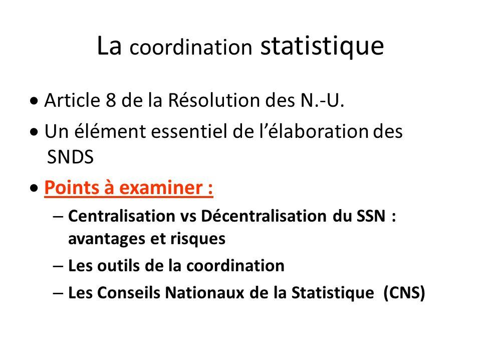 La coordination statistique