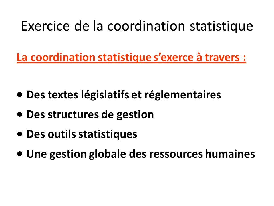 Exercice de la coordination statistique