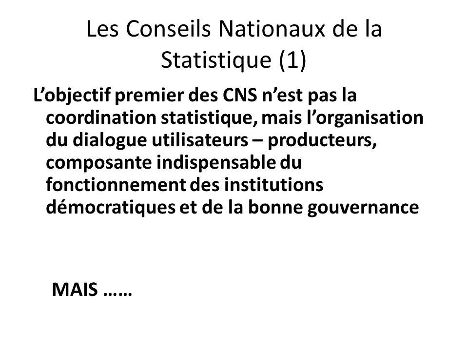 Les Conseils Nationaux de la Statistique (1)