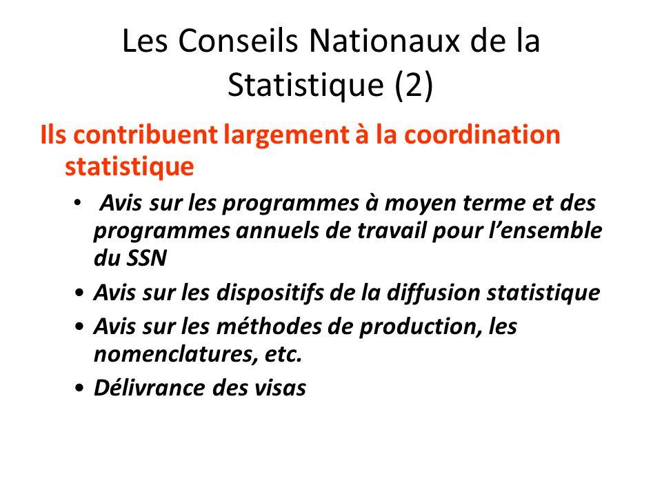 Les Conseils Nationaux de la Statistique (2)