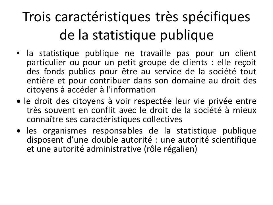 Trois caractéristiques très spécifiques de la statistique publique