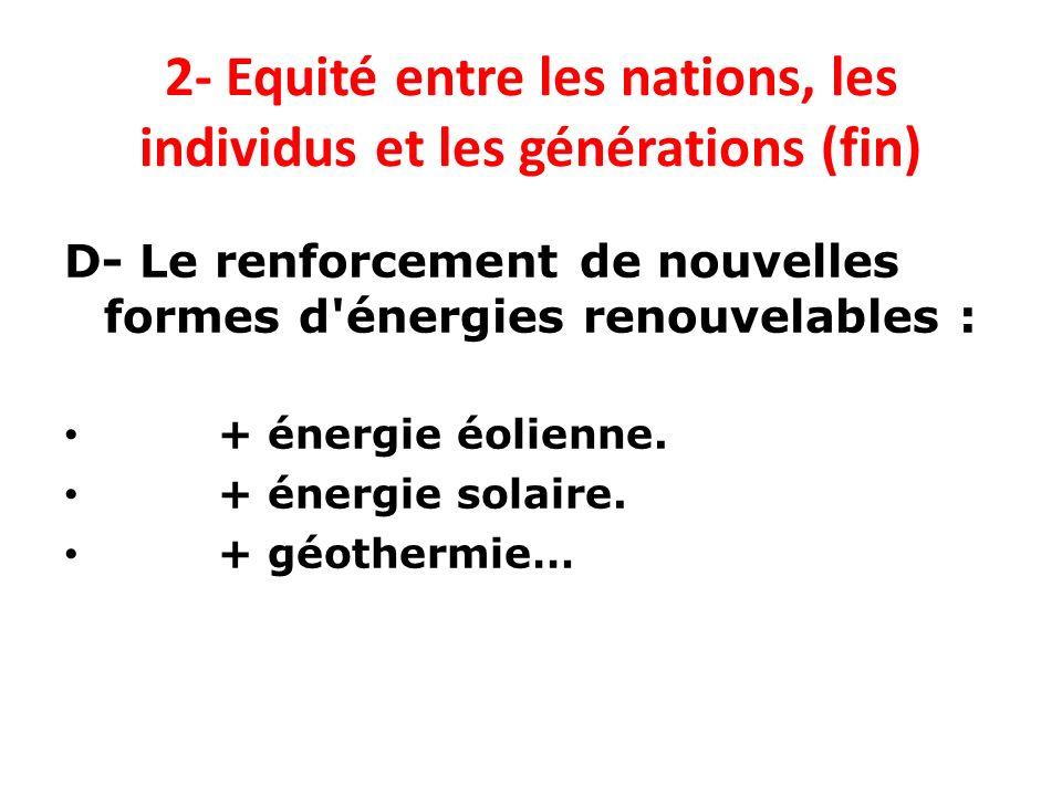 2- Equité entre les nations, les individus et les générations (fin)