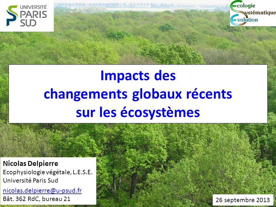 changements globaux récents