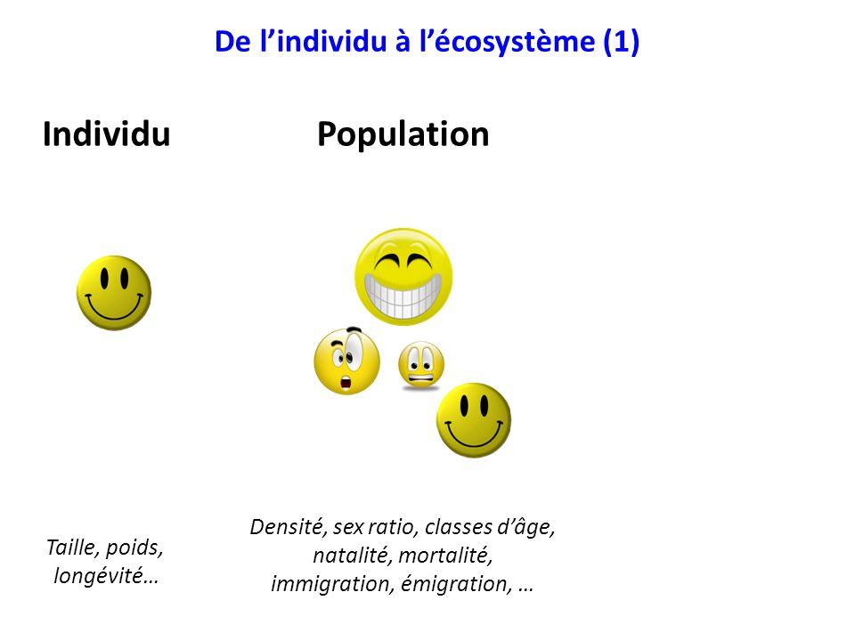 De l'individu à l'écosystème (1)