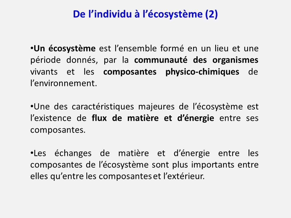 De l'individu à l'écosystème (2)
