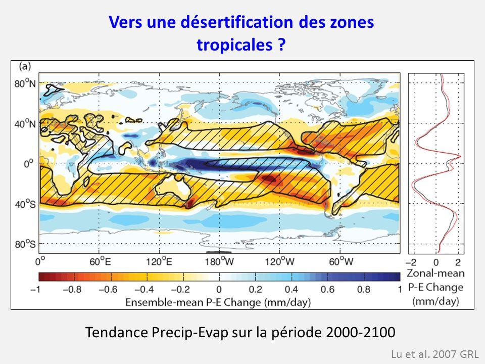 Vers une désertification des zones tropicales