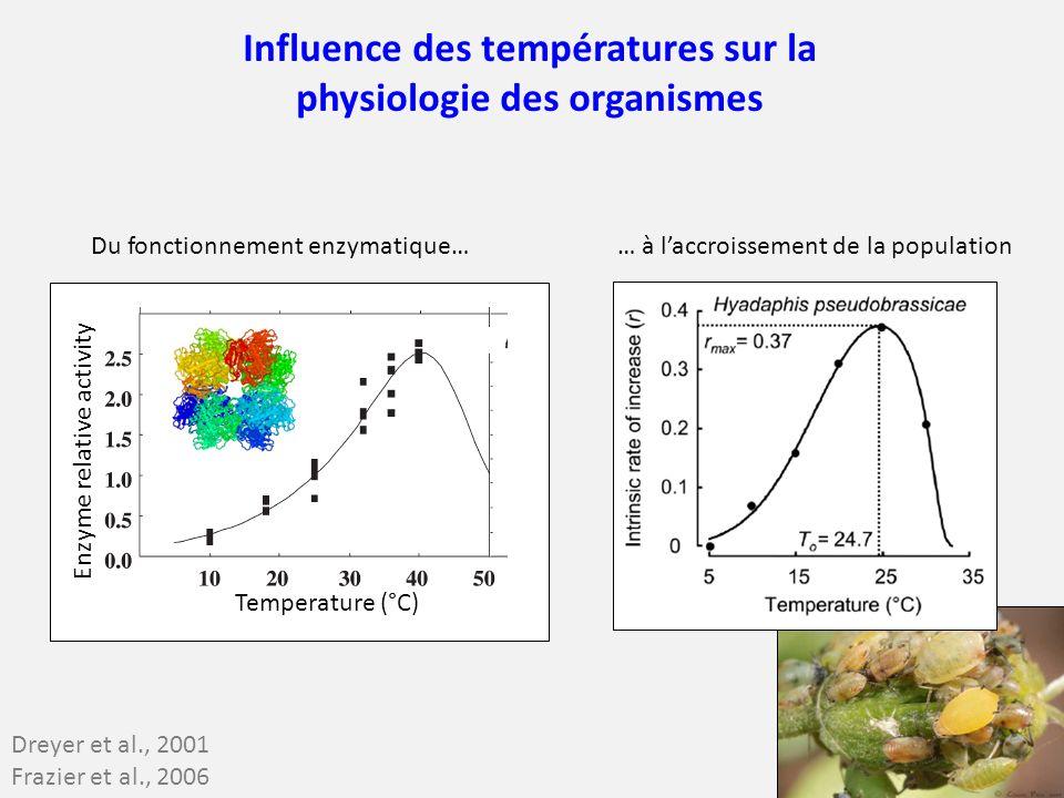 Influence des températures sur la physiologie des organismes