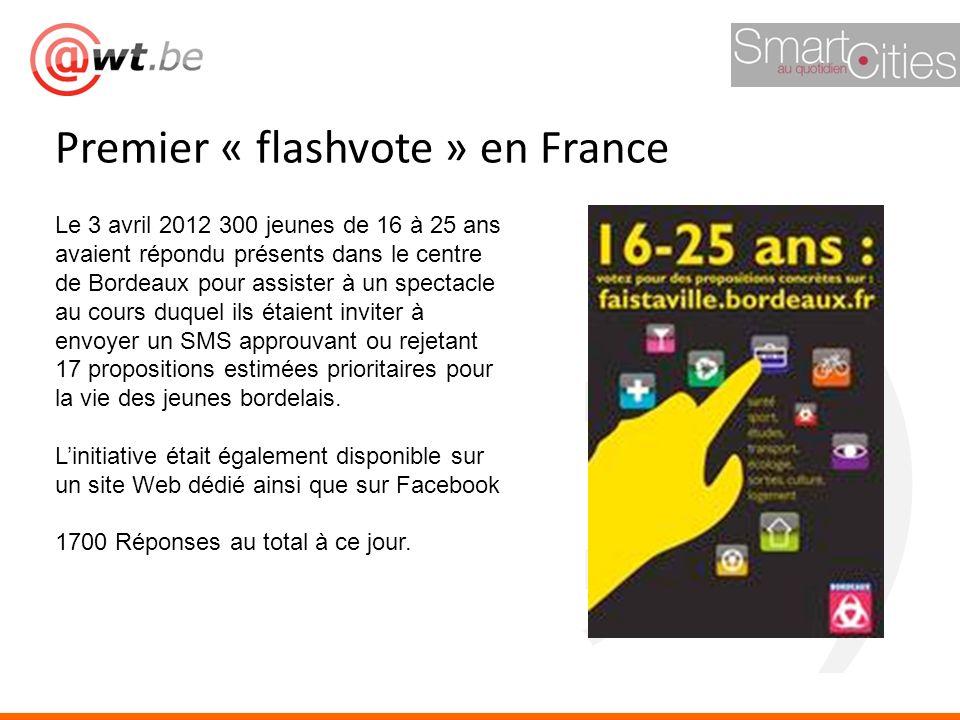 Premier « flashvote » en France