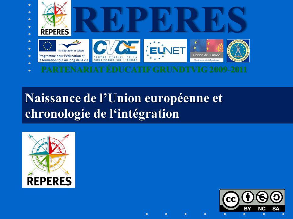 Naissance de l'Union européenne et chronologie de l'intégration