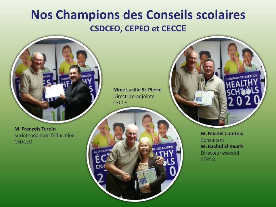 Nos Champions des Conseils scolaires