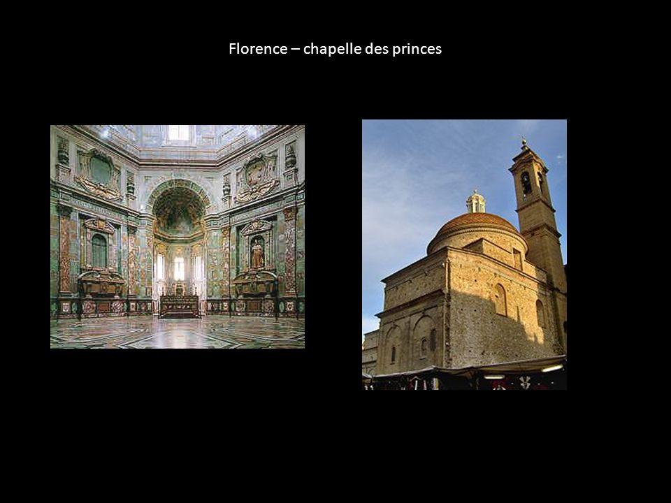 Florence – chapelle des princes