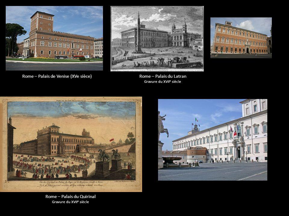 Rome – Palais de Venise (XVe sièce) Rome – Palais du Latran