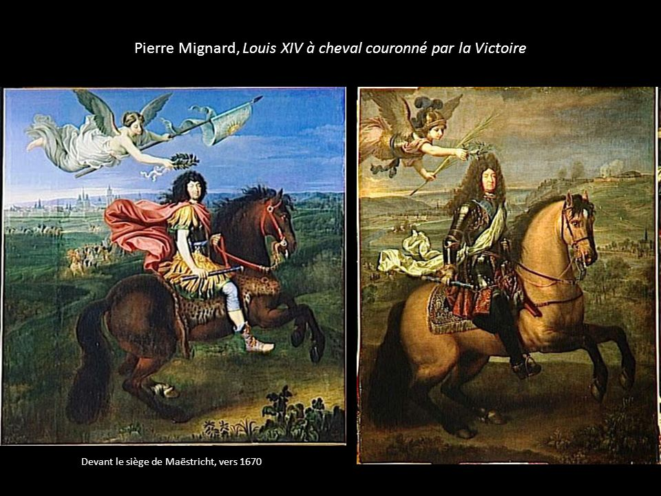 Pierre Mignard, Louis XIV à cheval couronné par la Victoire