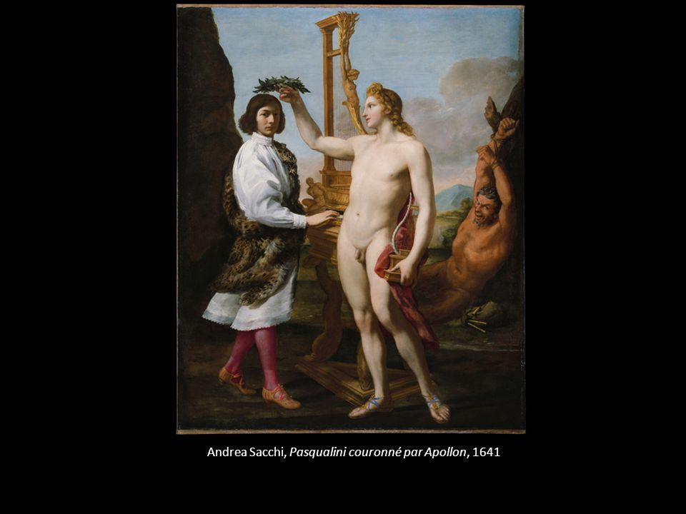 Andrea Sacchi, Pasqualini couronné par Apollon, 1641