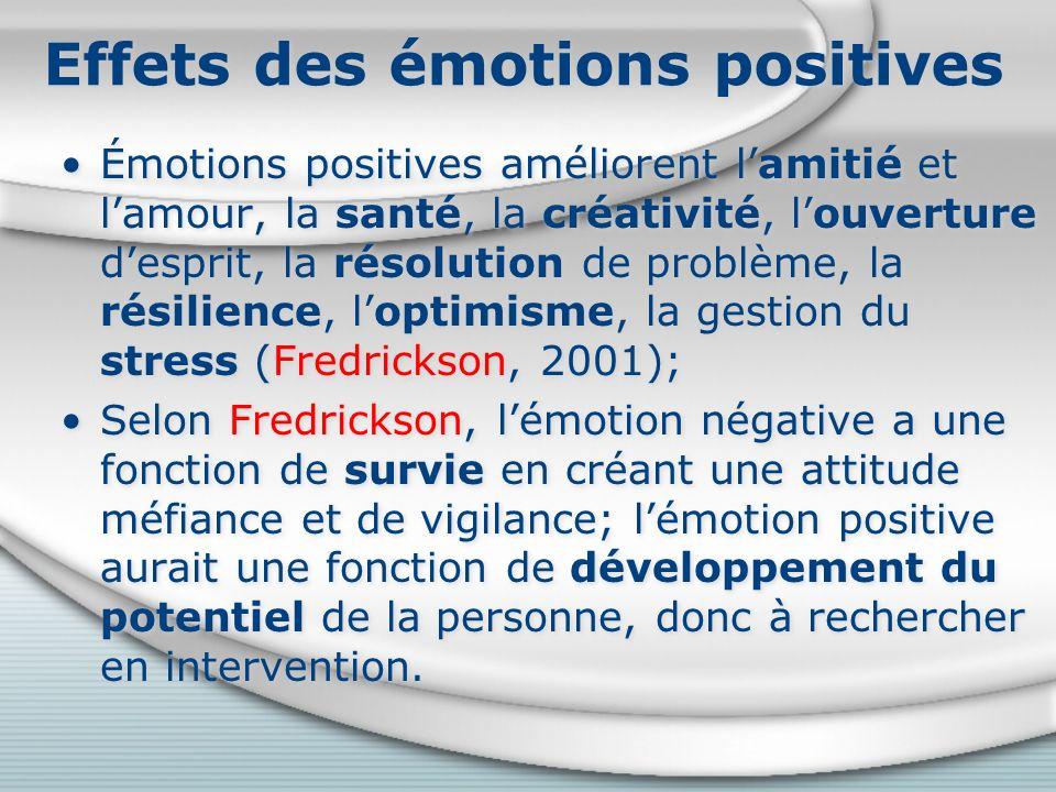 Effets des émotions positives