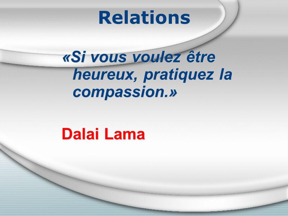 Relations «Si vous voulez être heureux, pratiquez la compassion.»
